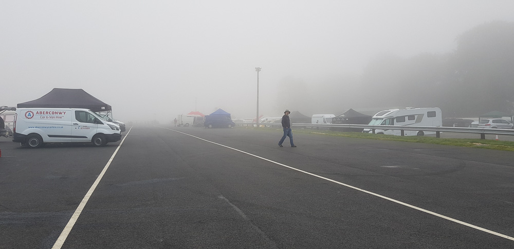 Mike Newton walking the paddock.